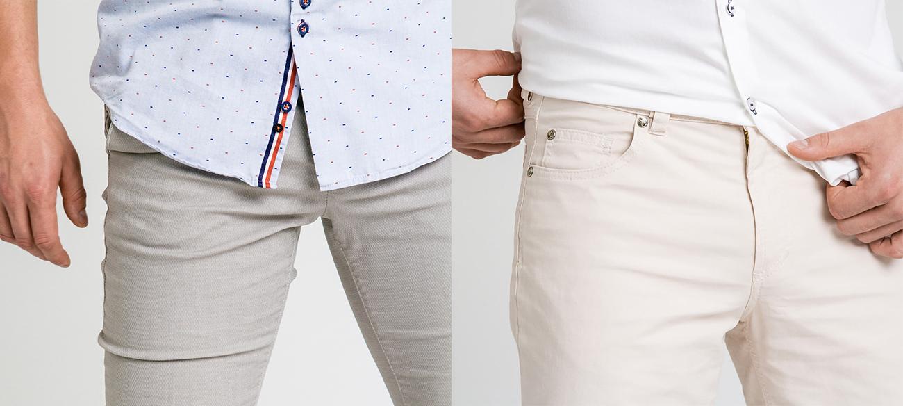 Przewiewne spodnie materiałowe